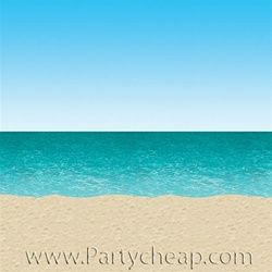 Blue Sky And Ocean Backdrop Diy Photo Booth Backdrop Beach