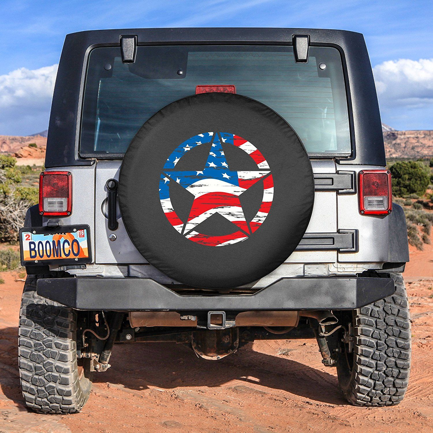 Amazon Com 31 Distressed Star Spare Tire Cover American Flag