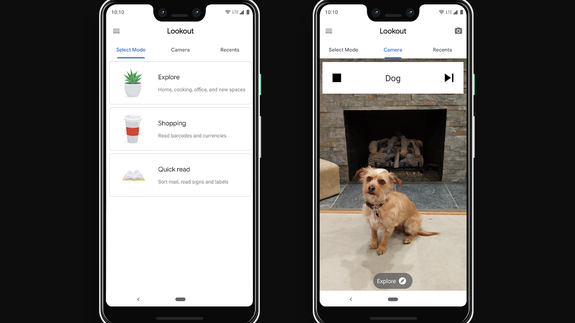 Google's Lookout app helps blind people by telling them