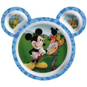 Disney Mickey Mouse 4-Pack Sectioned Plates