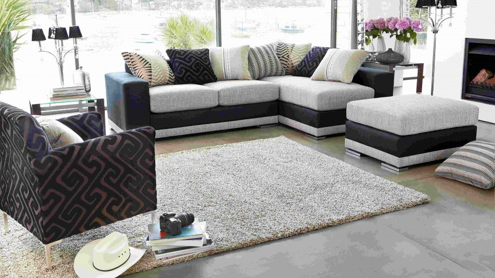 Wall street fabric corner lounge lounges living room - Harvey norman living room furniture ...
