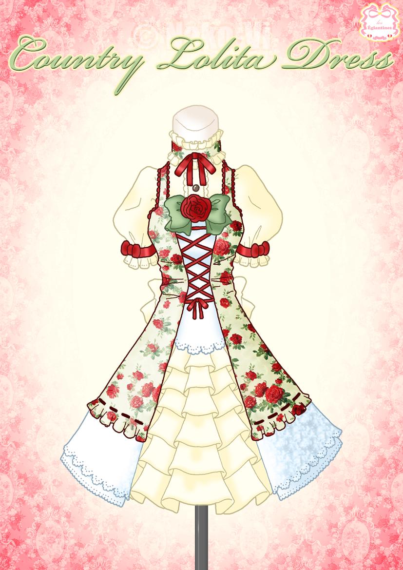 Country Lolita Dress by Neko-Vi.deviantart.com on @deviantART