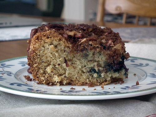Blueberry Pecan Coffee Cake