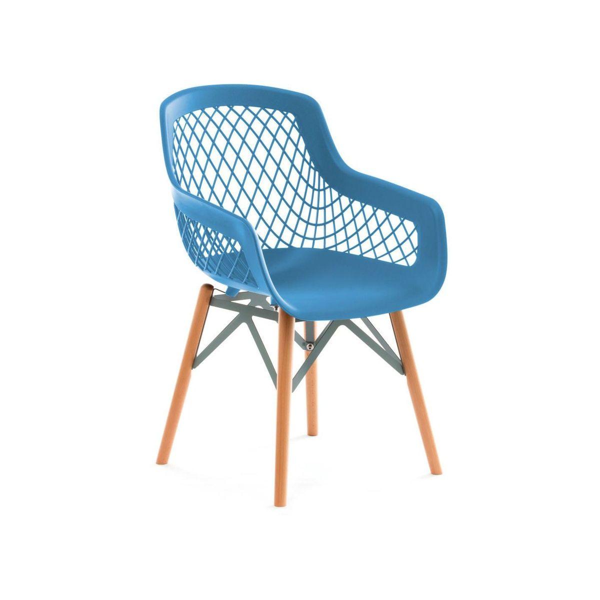 X4 Chaises Pure Style Bleu Arte Espina La Redoute Chaise Chaises De Table A Manger Chaise Plastique