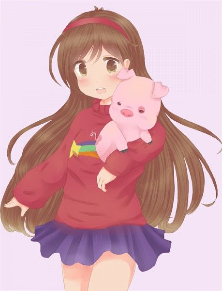 Mabel And Waddles From Gravity Falls Omg It S So Cute