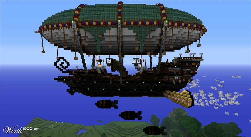 Zeppelin Minecraft Steampunk Minecraft Projects Minecraft