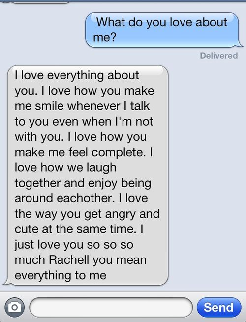 What do you love about me? Cute texts | awwww | Pinterest | Texts ...