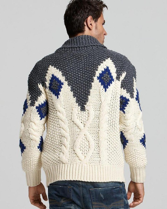 campera tres colores | Moda-Punto-Tricot-patrones | Pinterest ...