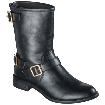 Women's Mossimo® Kyla Buckle Boot - Black $24.49 on sale online only! Tried these on in store, loved them!