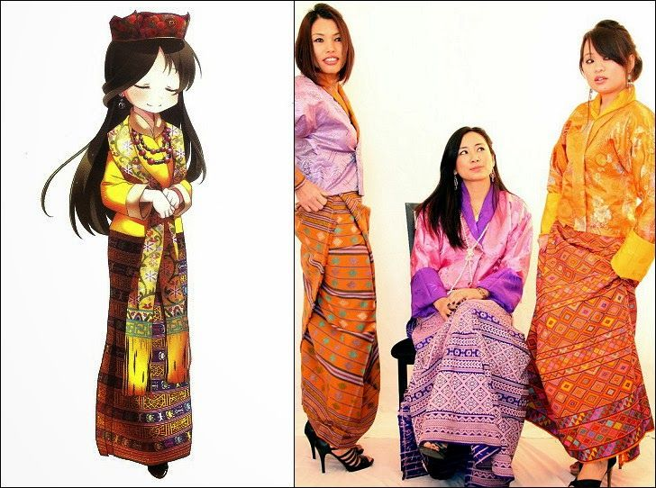 instructions on how to wear a bhutanese kira