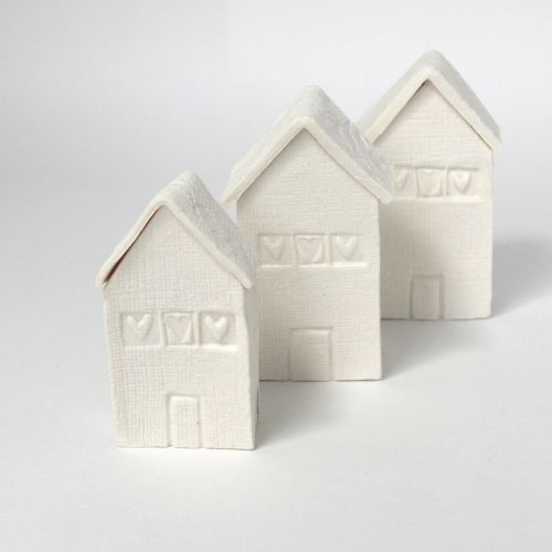 Small White Porcelain House With Lift Off Lid For Trinkets By