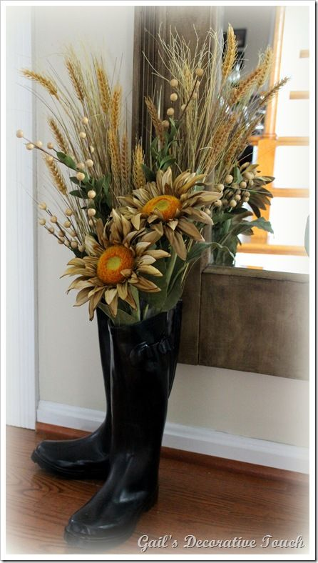 Love The Fall Flowers In The Rain Boots From Gail S
