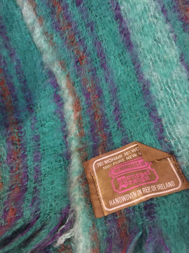 Vtg Hemmings At Donegal Design Throw Blanket Handwoven Ireland
