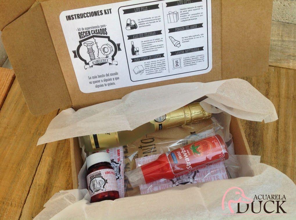 idea para regalar nuevo kit para recin casados