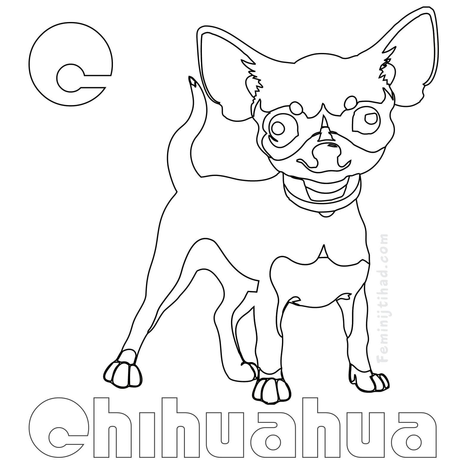 Chihuahua Coloring Pages Puppy Coloring Pages Animal Coloring