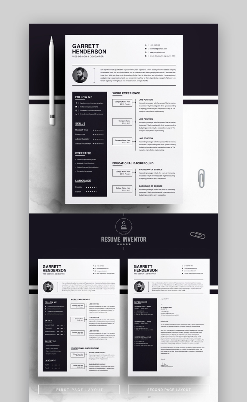 Resume in 2020 Cv design, Resume design, Resume