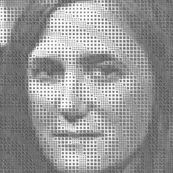 QR Code Amy Goodman Portrait | Awesome QR codes | Barcode