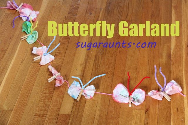 Work on fine motor skills, learning, thumb isolation, creativity, and more with this butterfly garland.  By the Sugar Aunts