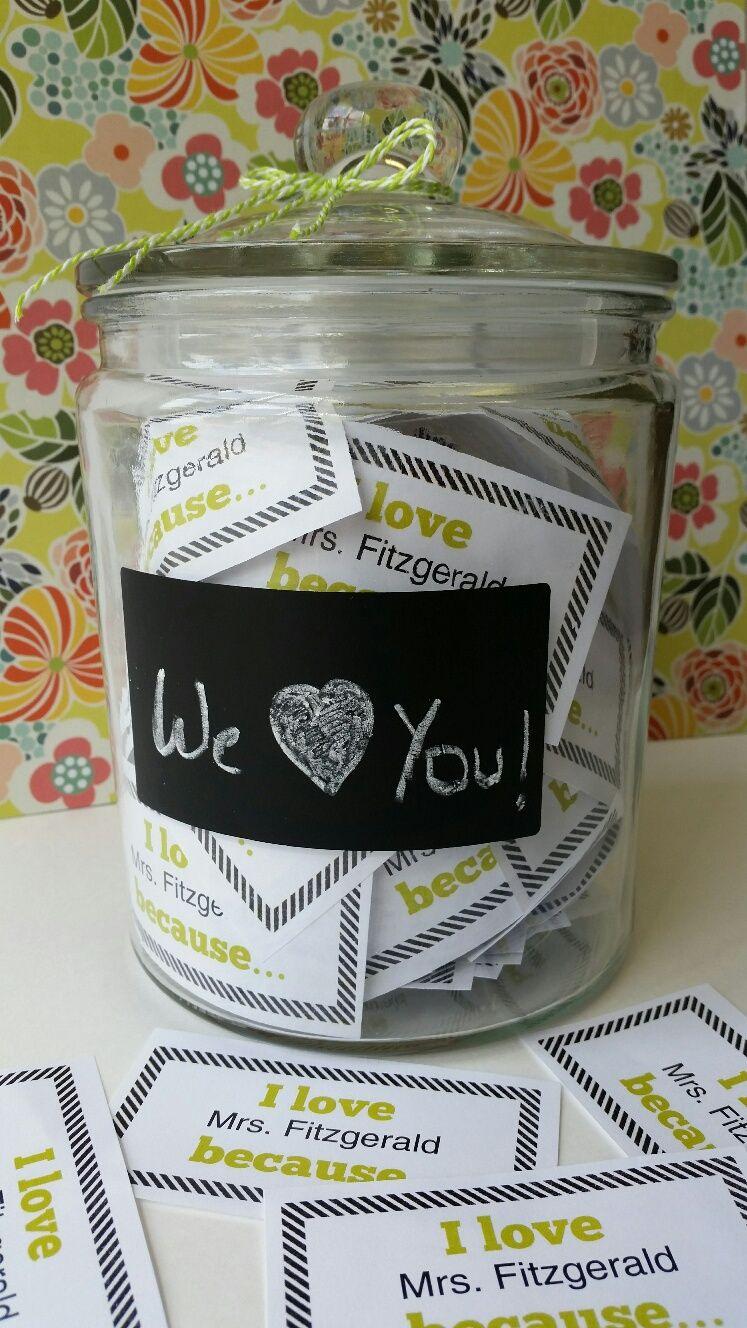 End of school year teacher gift tags student teacher