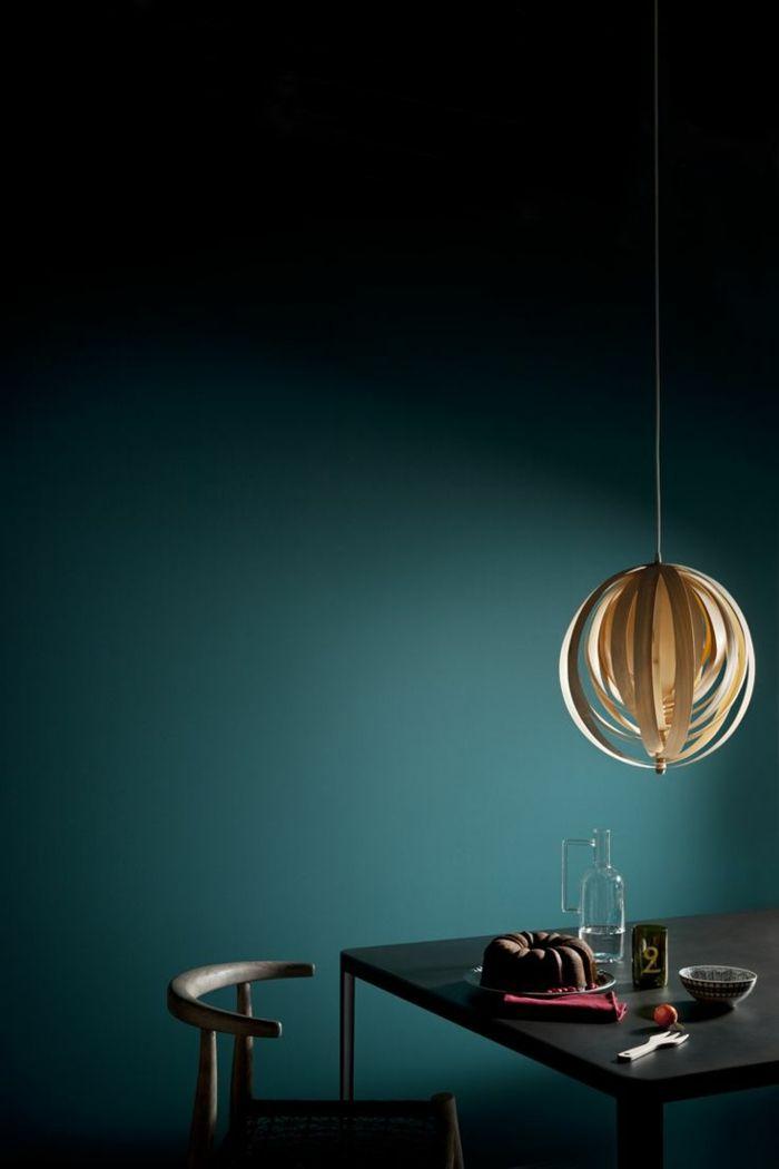 AuBergewohnlich Einrichtungsbeispiele Trendfarbe Wandgestaltung Wanddesign Blaugrün Minimal
