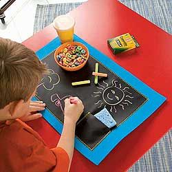Chalkboard Placemats See The Cute Little Pocket For The Chalk And Sponge I Will Make One Of These Placemats Kids Chalkboard Placemats Business For Kids