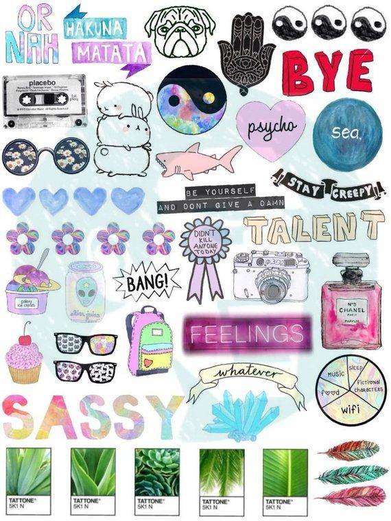 photo about Aesthetic Printable Stickers referred to as Fixed #3. Tumblr Stickers. Stickers. Mounted of stickers. Decals