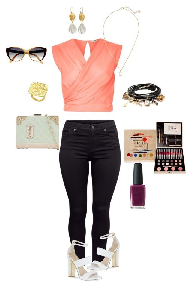 """""""Untitled #114"""" by abbygrimaldoob on Polyvore featuring River Island, H&M, Kendra Scott, Carvela, Morra Designs, ALDO, GUESS and Black Poppy"""
