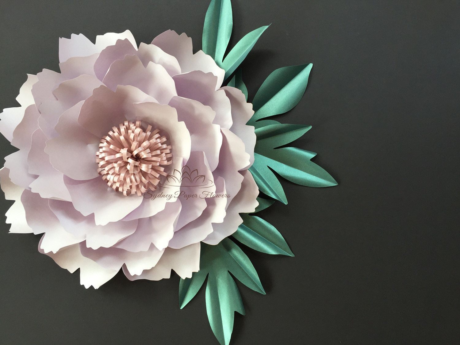 Peony Leaf Templates Paper Leaf Template Paper Flower Template Paper