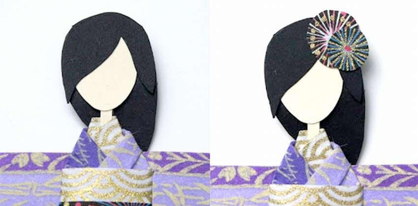 Японская кукла из бумаги | Куклы кокеши, Бумажные куклы ...