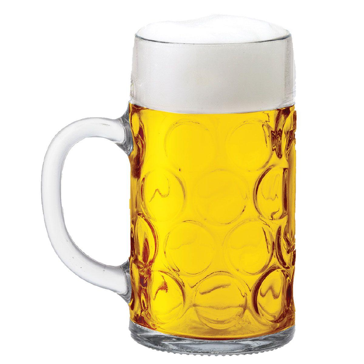 Caneca de Chopp de Vidro ou Cerveja Mass Krug G 1.250ml em ...