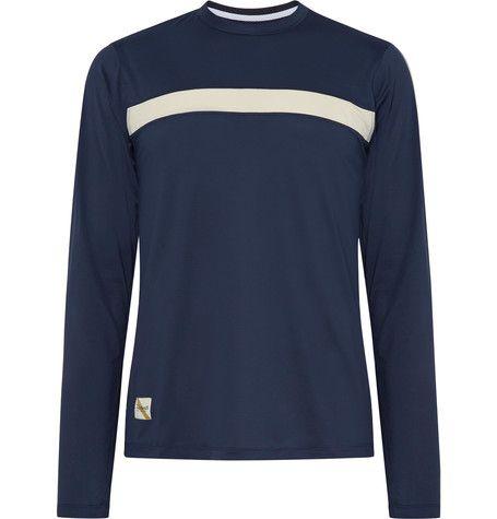 Twilight Striped Stretch-mesh T-shirt Tracksmith Cheap Sale Low Price OkOryRnMQI