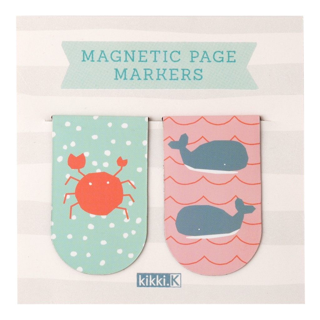 These cute magnetic page markers are perfect for keeping your spot