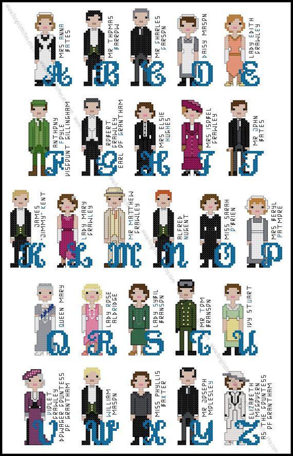 INSTANT DOWNLOAD PDF Patterns Downton Abbey inspired Cross Stitch Pattern Set