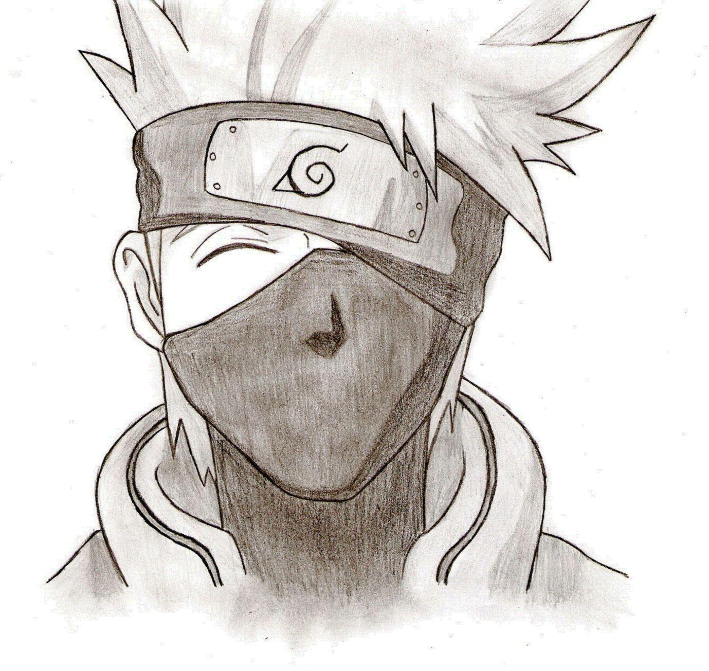 Drawing Kakashi With Pencil Anime Drawings Sketches Naruto Drawings Easy Kakashi Drawing