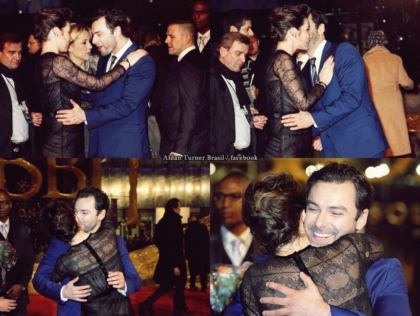Evangeline Lilly and Aidan Turner - Première Berlin The ...
