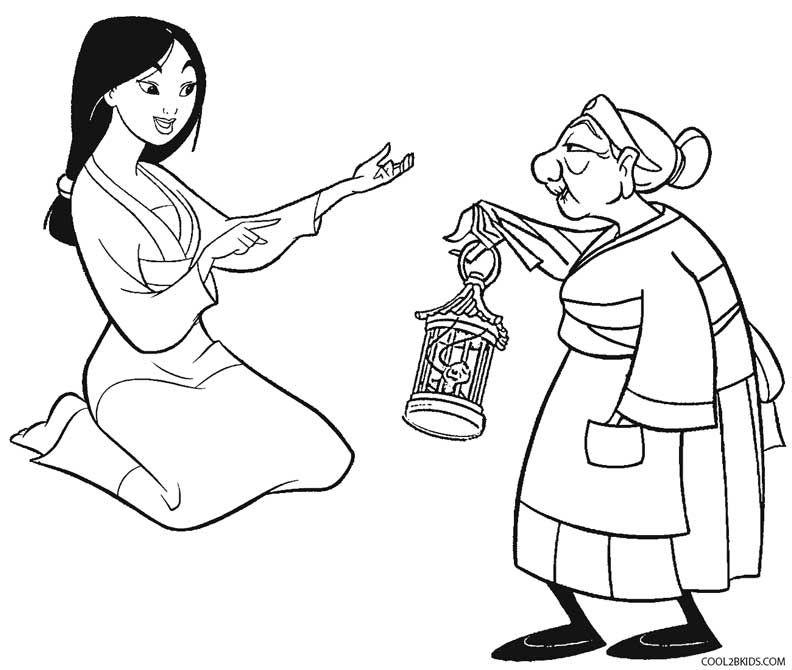 Printable Mulan Coloring Pages For Kids   Cool2bKids   Disney ...
