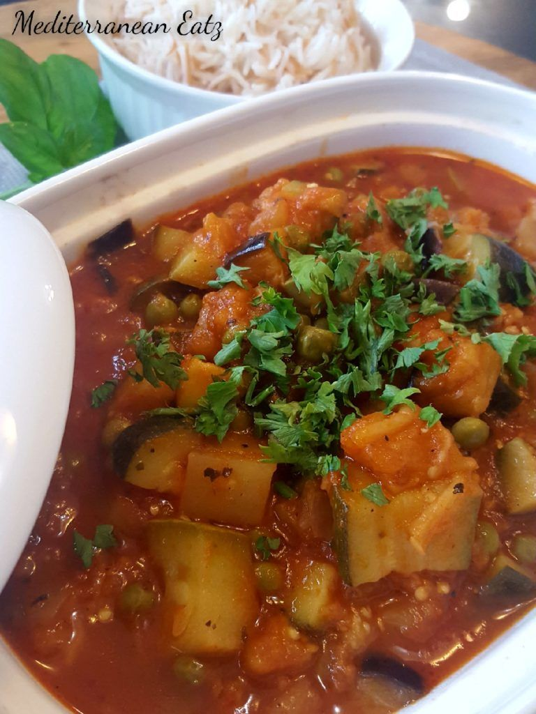 Vegetarian Lebanese Moussaka Eggplant Stew Mediterranean Eatz Lebanese Soup Recipe Moussaka Vegetarian Stew Crockpot