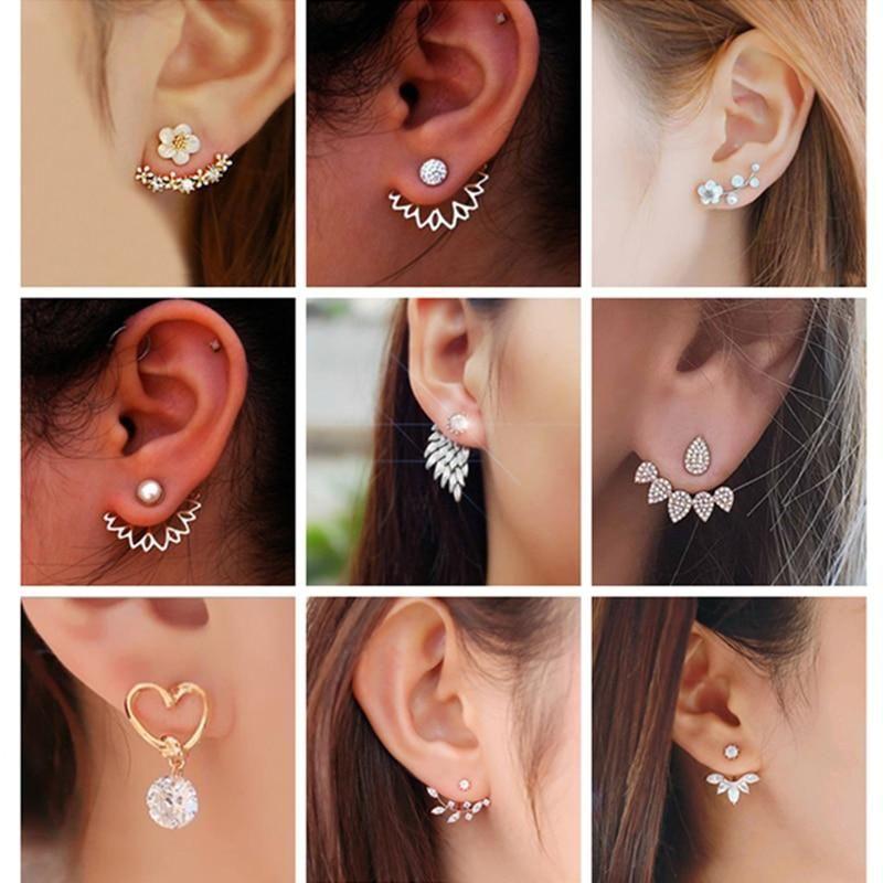 New Wings of Angel Beautiful Ladies Womens Stainless Steel Earrings Necklace Set