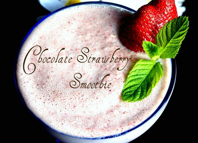 Chocolate Strawberry Smoothie #chocolatestrawberrysmoothie