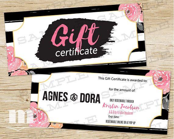 agnes and dora gift certificate agnes dora gift card