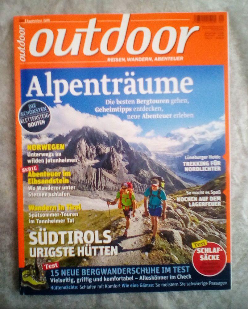 Outdoor!Reisemagazin!Ausgabe:   September 2016!NEU!