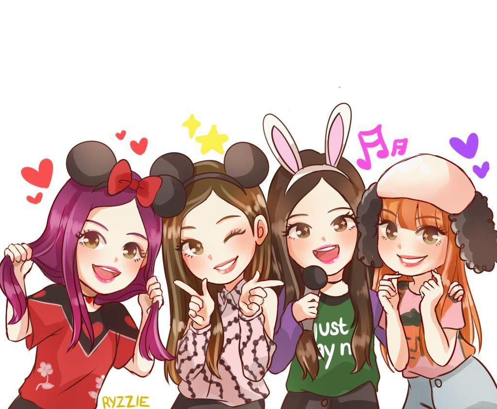 Anime Blackpink Yahoo Yahoo Hasil Image Search Pink Drawing Chibi Friend Cartoon Blackpink and bts anime wallpaper