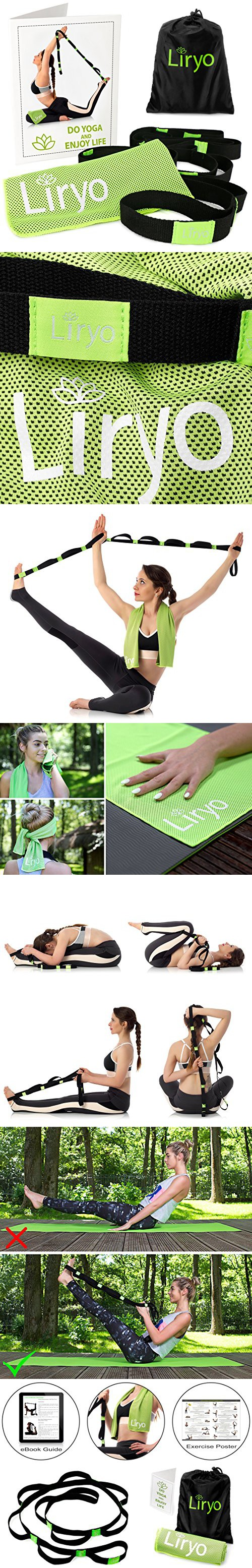 Liryo Yoga Strap For Stretching With Loops Non Elastic Stretch