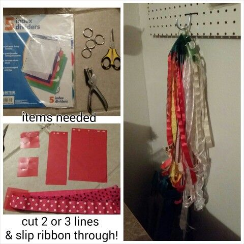 Ribbon holder organizer