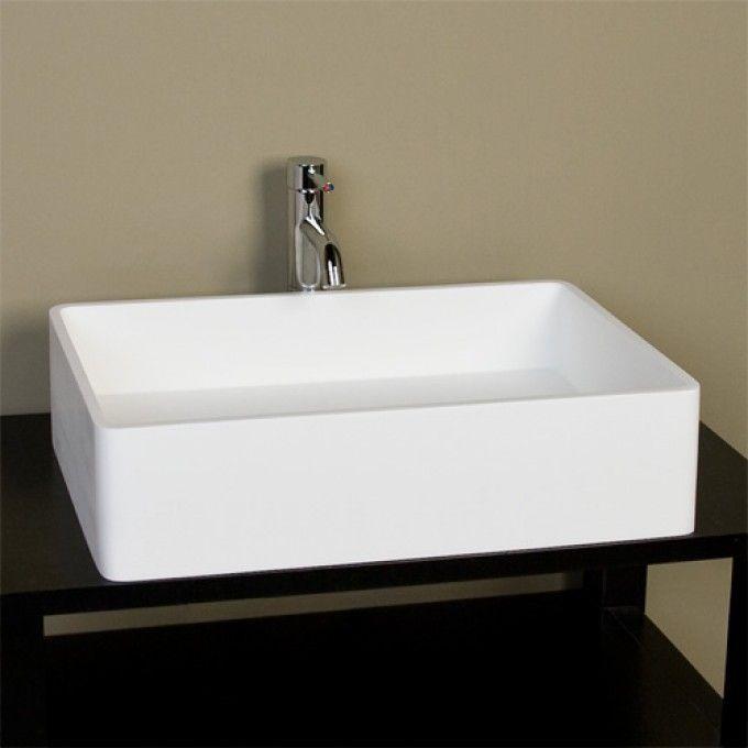 230 abra rectangular resin vessel sink white matte finish overall dimensions 231