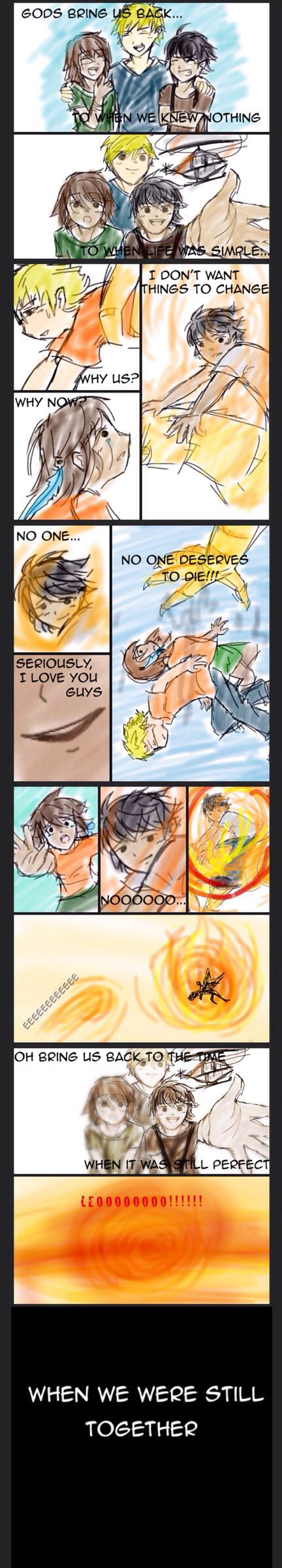 Blood Of Olympus SPOILER! The last time Piper saw Leo alive THE FEELS!!! By @Junicole 1997