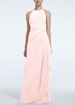 Long Mesh Dress With Illusion Neckline F15662 In Online 159 00 Davids Bridal