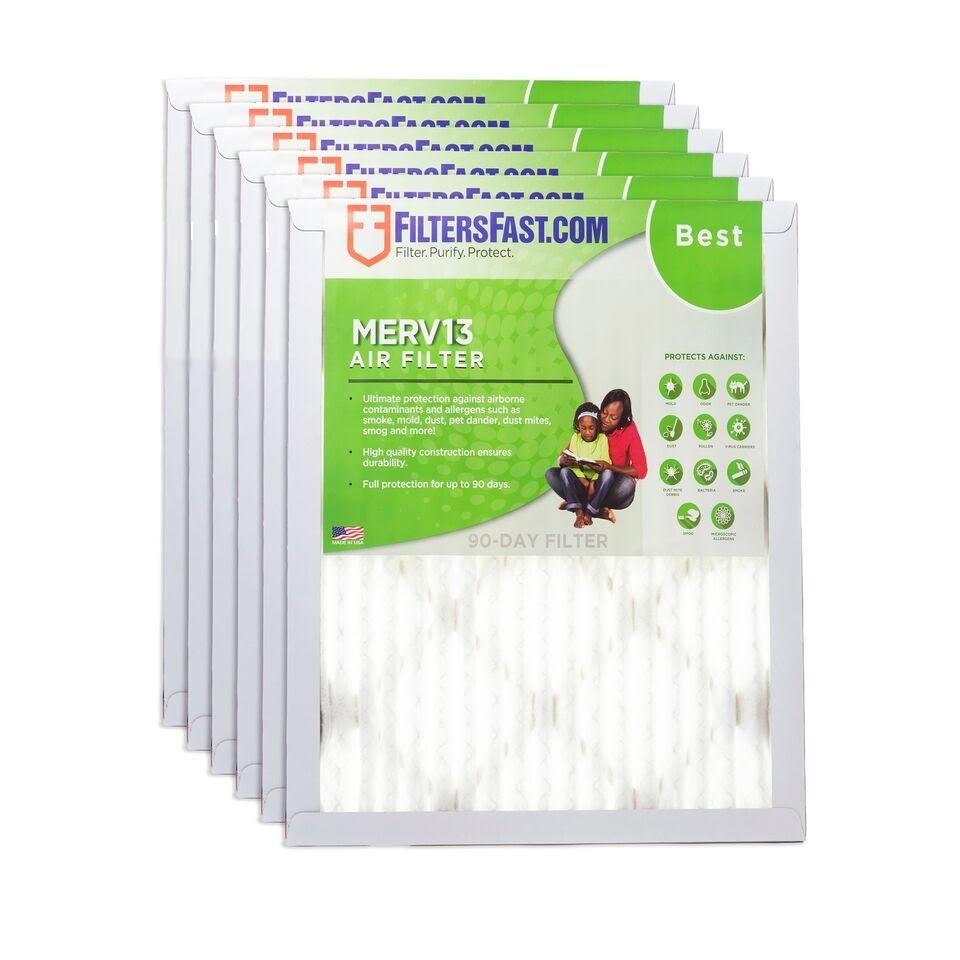 "1"" MERV 13 Air Filters 6Pack in 2020 Air filter"