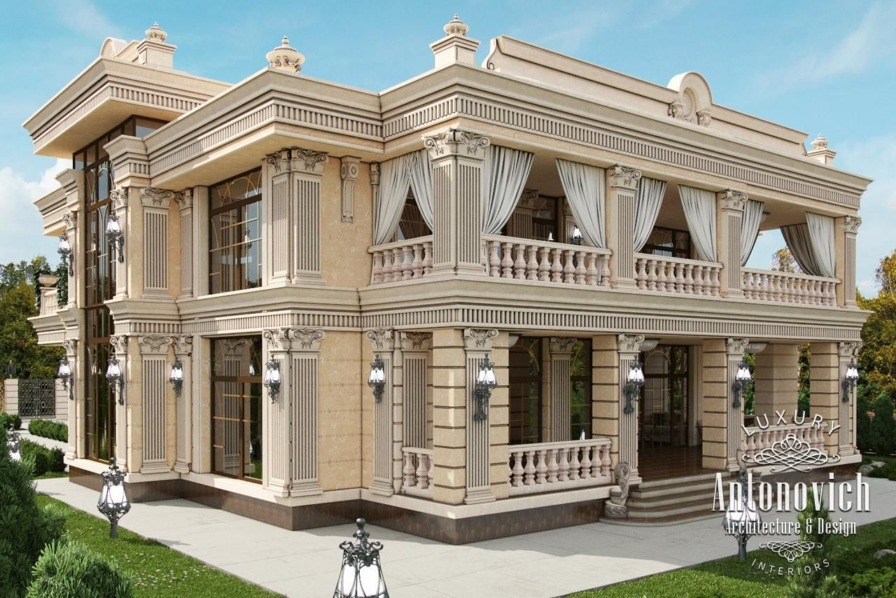 Exterior design in dubai exterior villa dubai photo 3 for Luxury classic house