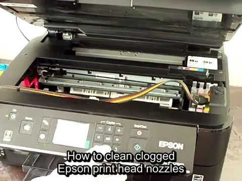 How to clean clogged Epson print head nozzles  - YouTube